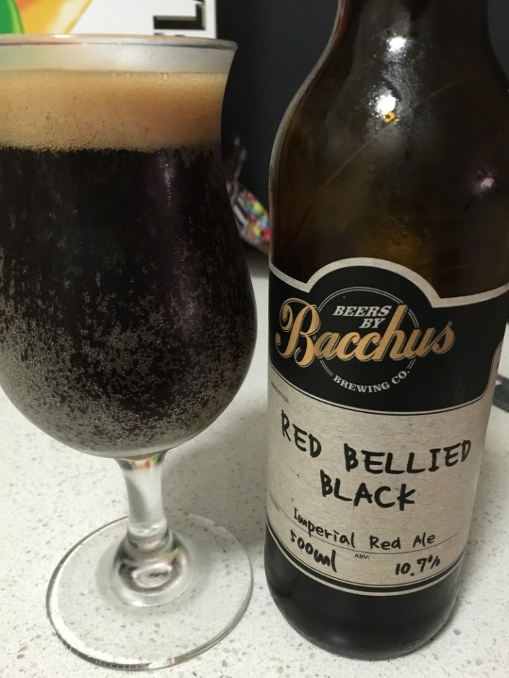 Bacchus Brewing - Red Bellied Black Imperial Red IPA