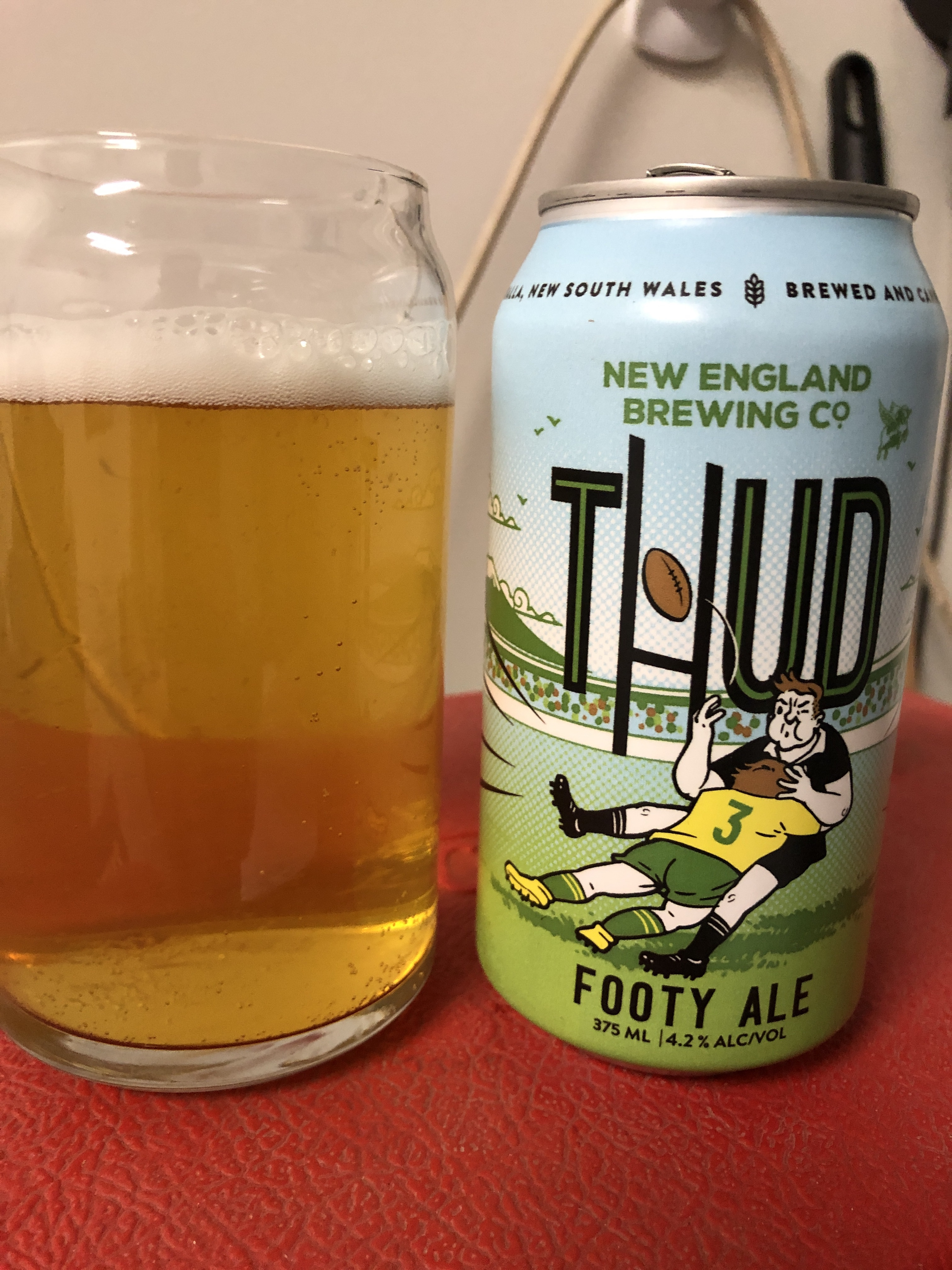 New England Brewing Co Thud Footy Ale