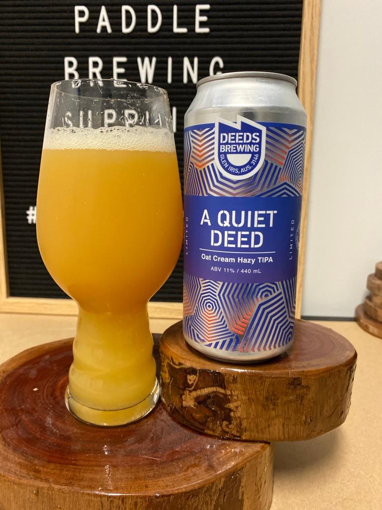 Deeds Brewing - A Quiet Deed Oat Cream Hazy TIPA